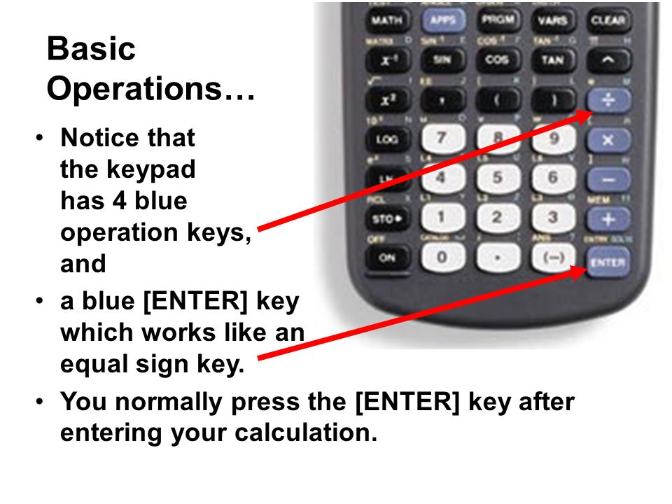 Ti 83 plus graphing calculator ppt video online download 2 basic operations ccuart Gallery